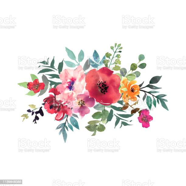 Hand drawn watercolor bouquet on white background beautiful gentle vector id1139848385?b=1&k=6&m=1139848385&s=612x612&h=zzgajukl009w3hx6zfuzgykpjldcrcra4pxavoksaje=