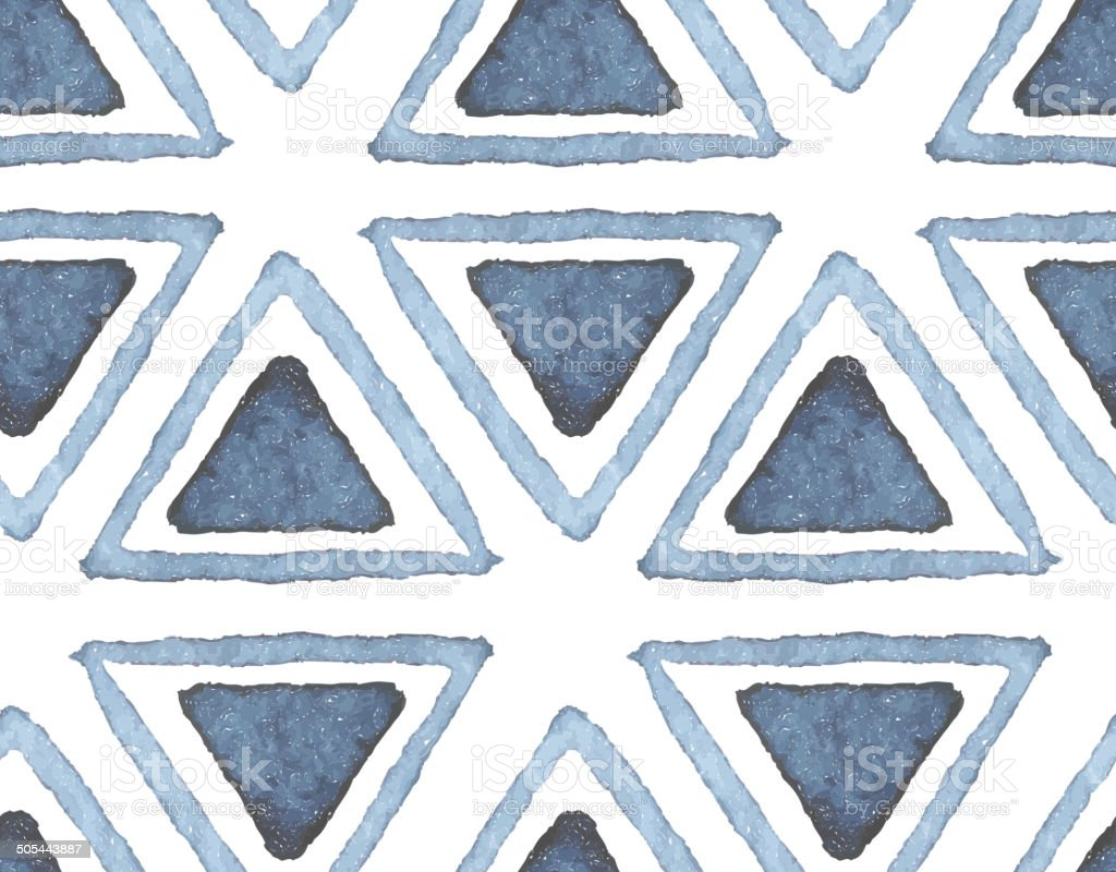Hand drawn watercolor seamless pattern vector art illustration