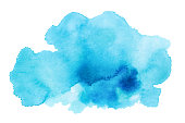 istock Hand drawn watercolor stain. 1254809129
