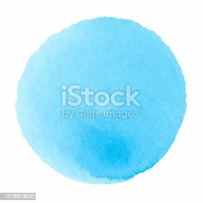 istock Hand drawn watercolor stain 1276923620