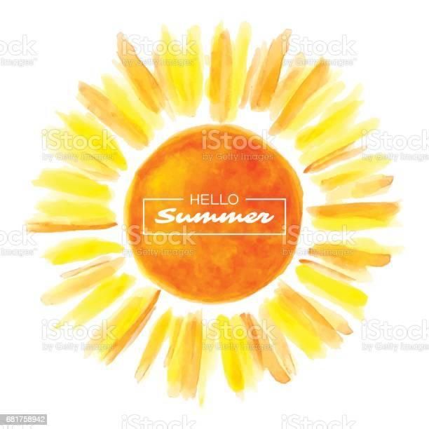 Hand drawn watercolor sun vector id681758942?b=1&k=6&m=681758942&s=612x612&h=kfrjkzak5nqqnmuyan4j9vyd0psa7ekaowdujpyupra=