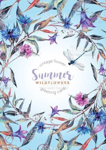 Hand drawn watercolor wildflower wreath vector id655840098?b=1&k=6&m=655840098&s=612x612&h= rvqsmkp3s2lbykcgre4mluw3nessohpruv djv ydc=