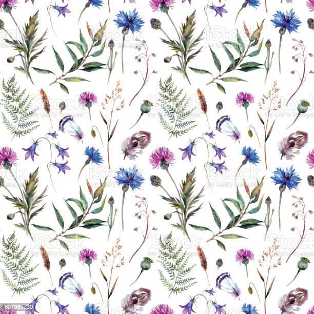 Hand drawn watercolor wildflowers vector id607985730?b=1&k=6&m=607985730&s=612x612&h=byu2 hicqcz28gutk bqgslqrftmvybqe1h2uzdnj0i=