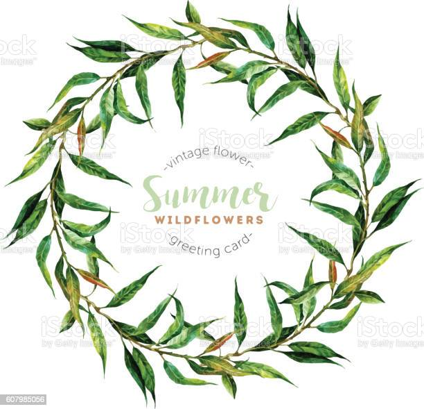 Hand drawn watercolor willow wreath vector id607985056?b=1&k=6&m=607985056&s=612x612&h=wl5eg vzcoi2 snkc511b500g6yuekvvplaym1gj9ly=