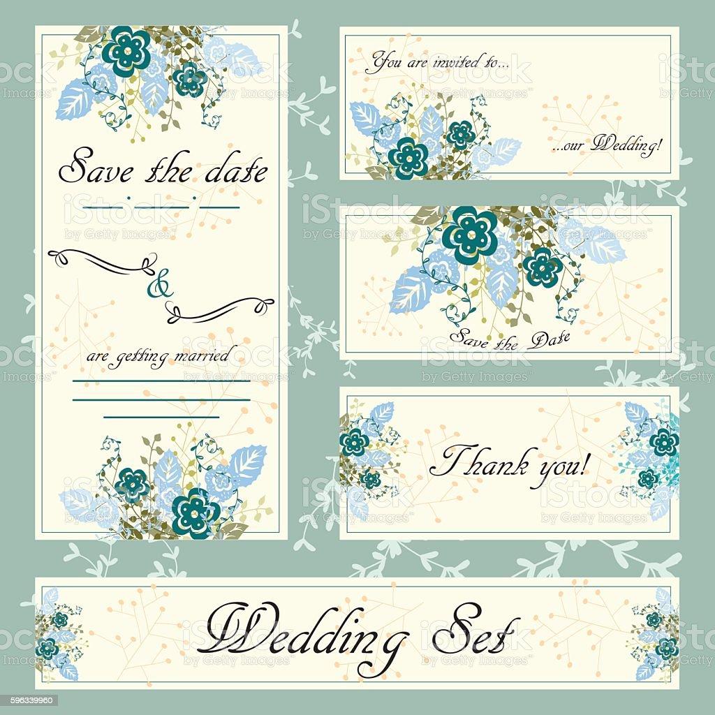 Hand drawn wedding invitation card, boho style, vector floral illlustration royalty-free hand drawn wedding invitation card boho style vector floral illlustration stock vector art & more images of abstract