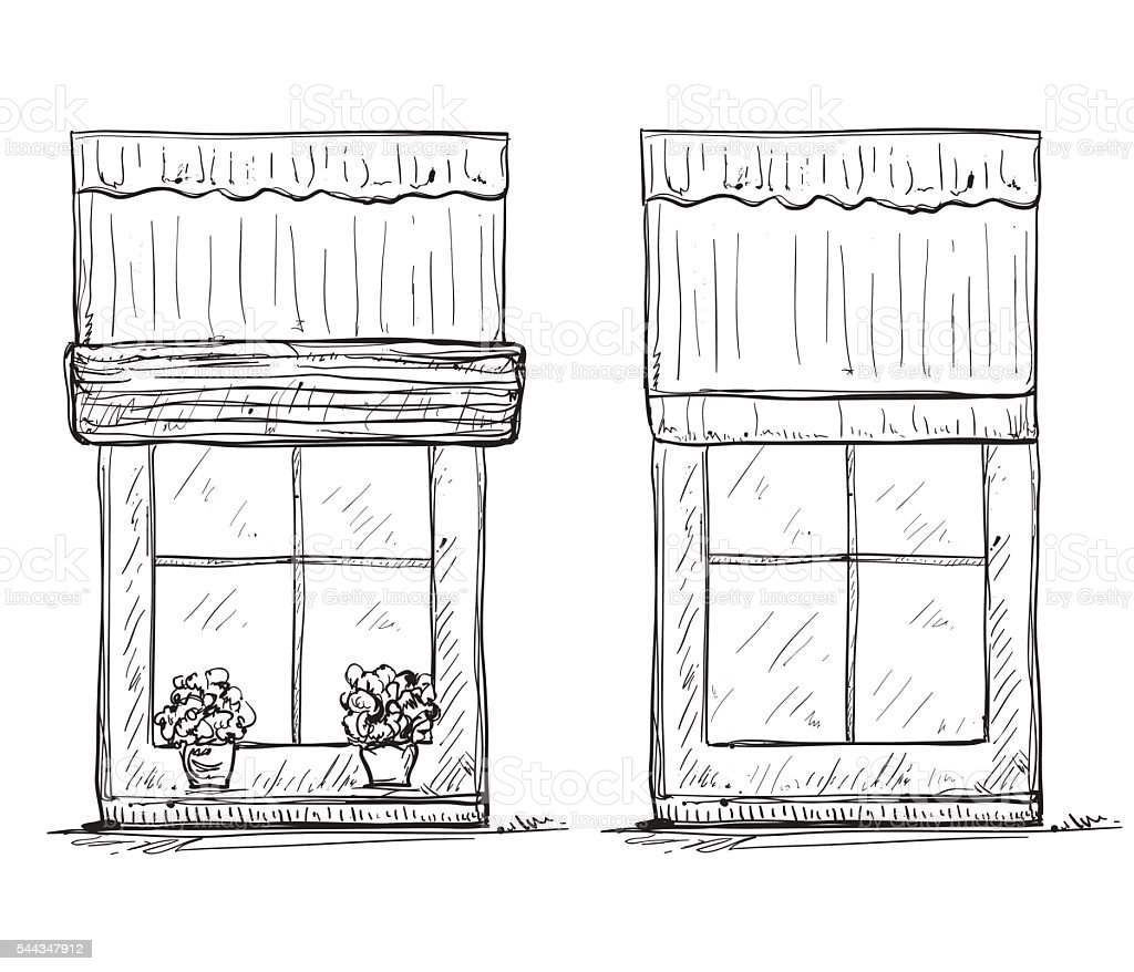 Hand Drawn Windows Sketch Stock Illustration - Download Image Now