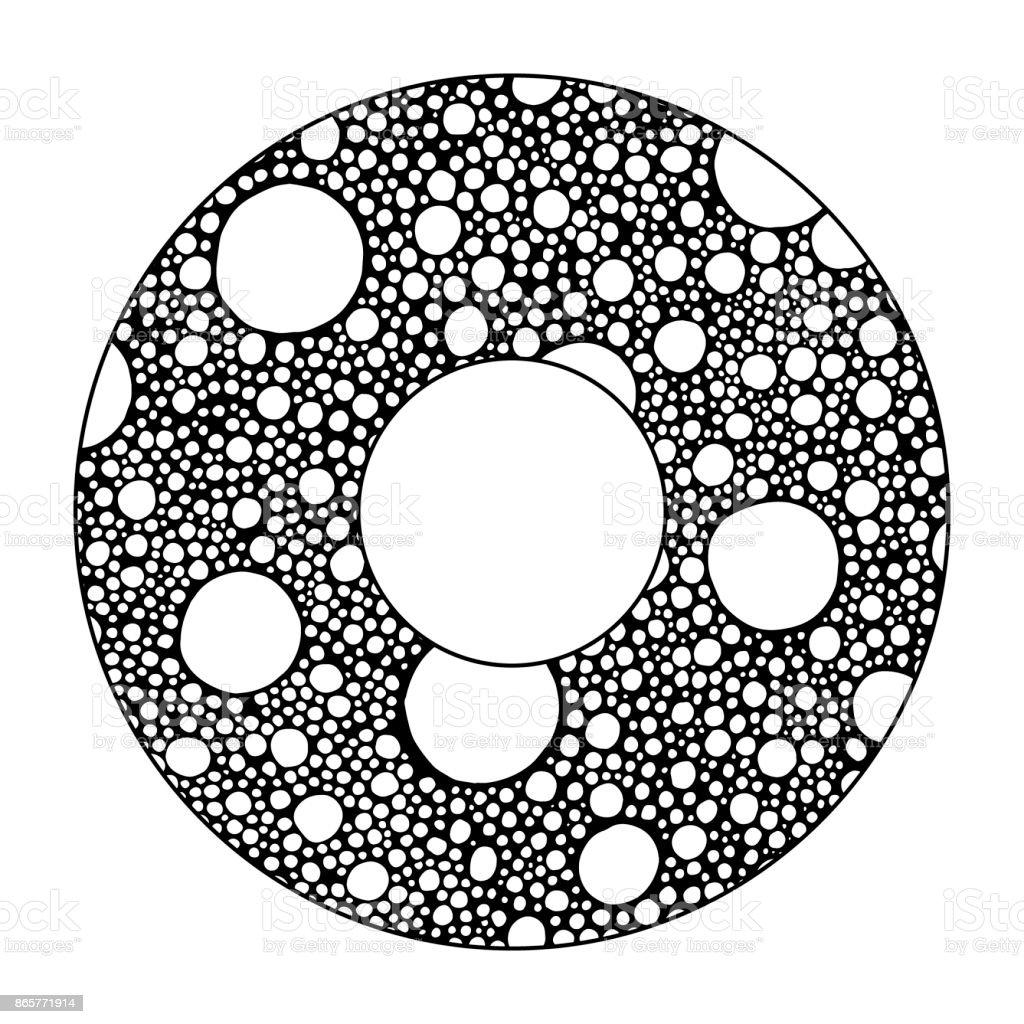 Mano Alzada Con Fondo Abstracto Círculo De Tinta Con Burbujas ...