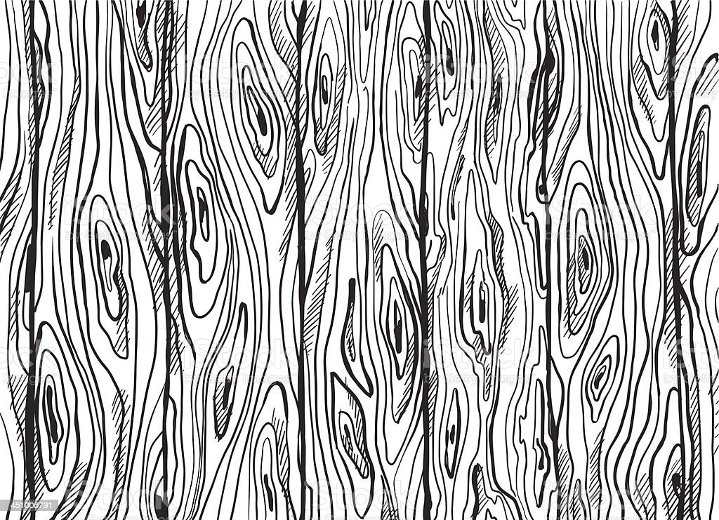 Hand Drawn Wooden Texture Stock Vector Art & More Images ...