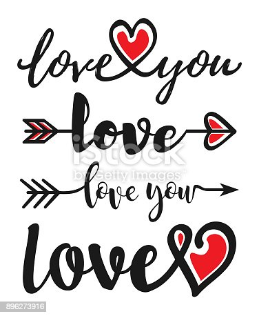 istock Hand drawn word LOVE. 896273916