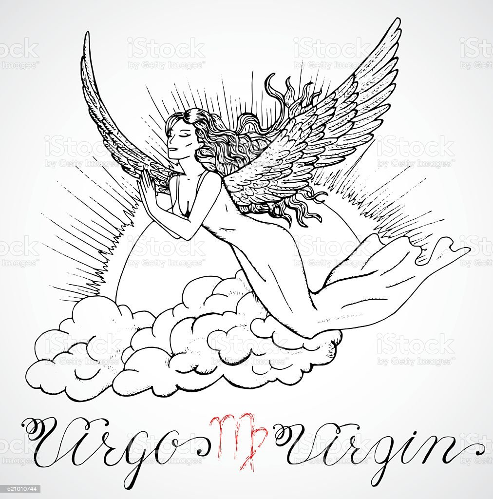 hand-drawn-zodiac-sign-virgo-or-virgin-vector-id521010744