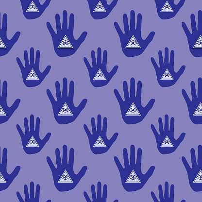Hand Eye Seamless Pattern