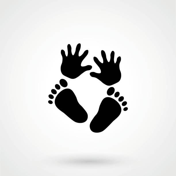 ilustrações de stock, clip art, desenhos animados e ícones de hand foot icon. - feet hand