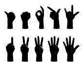 hand gesticulate symbol set, vector illustration