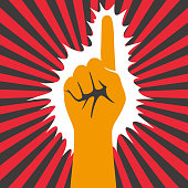 istock hand gesticulate symbol, vector illusatration 1011041930