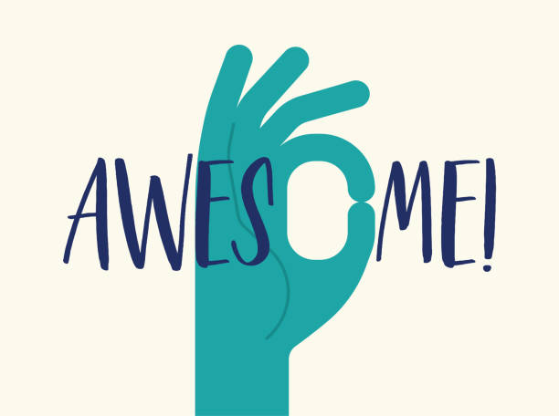 hand geste kompliment awesome ehrfurcht teamwork gute job meme - wow stock-grafiken, -clipart, -cartoons und -symbole