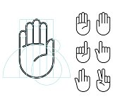 Hand gesture icons