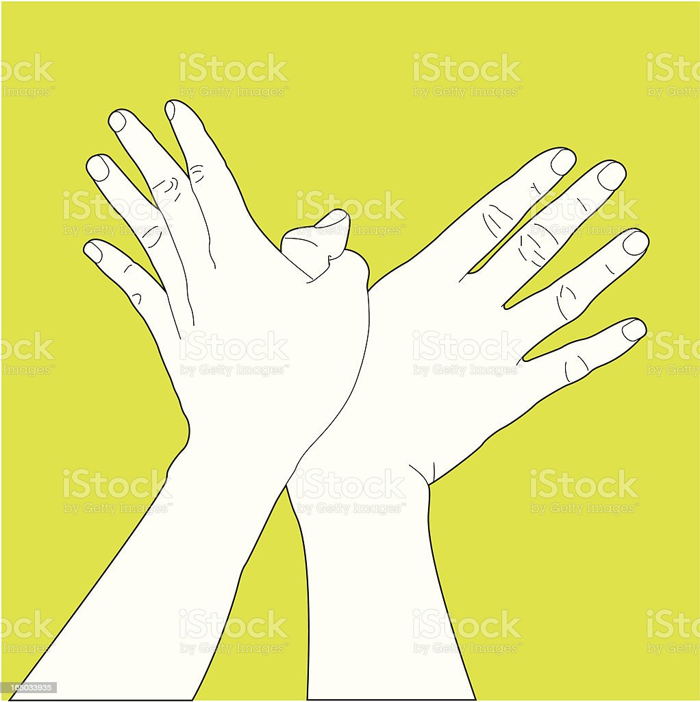 Hand Gesture Making a Bird royalty-free stock vector art