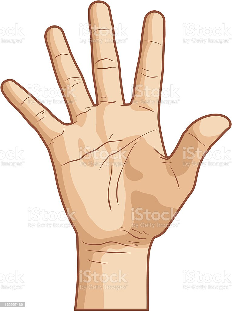 royalty free palm of hand clip art vector images illustrations rh istockphoto com clipart hand clipart hands raised
