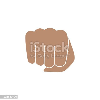 istock Hand gesture, oncoming fist 1223680709