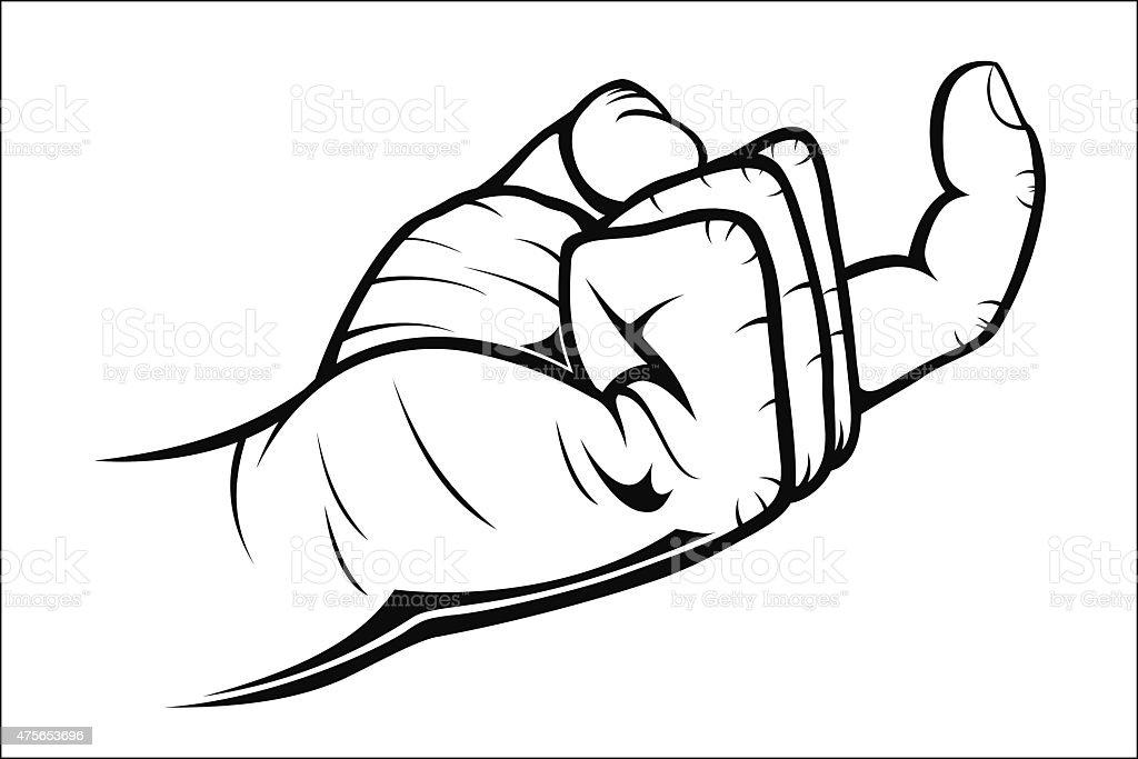 Hand gestures - Come here vector art illustration
