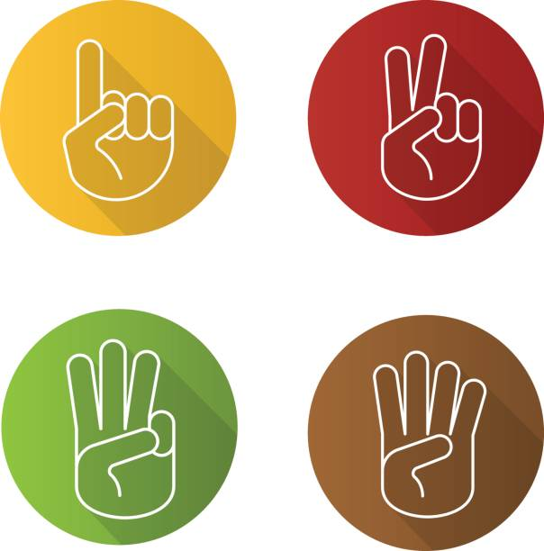 hand gestures icons - single object stock illustrations, clip art, cartoons, & icons