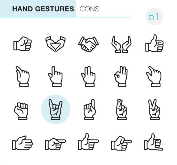 ilustraciones, imágenes clip art, dibujos animados e iconos de stock de gestos con las manos - los perfectos iconos pixel - zoom call