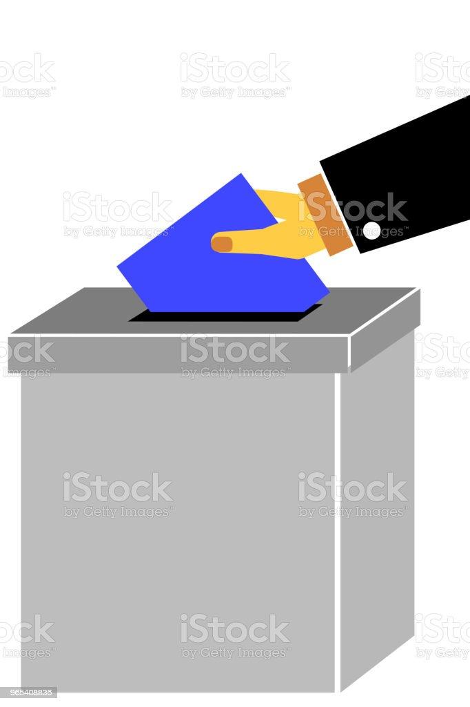 Main - d'émettre un Vote un - clipart vectoriel de Art libre de droits