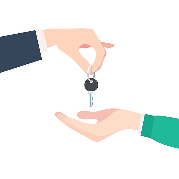 hand geben schlüssel - neues zuhause stock-grafiken, -clipart, -cartoons und -symbole