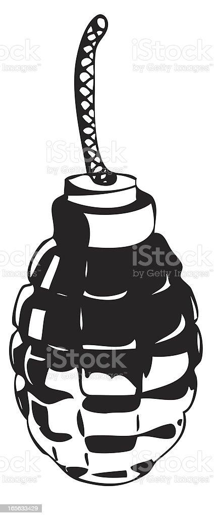 Hand grenade illustration royalty-free stock vector art