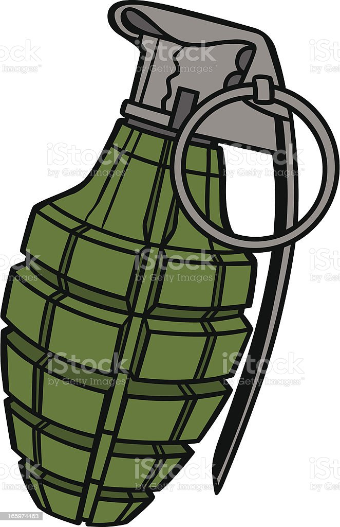 hand grenade stock vector art more images of abstract 165974463 rh istockphoto com Grenade 3D Model