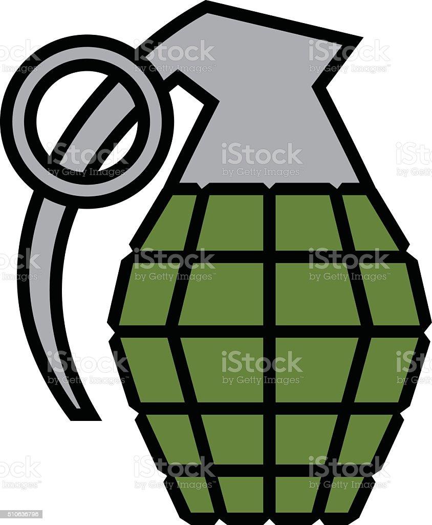 hand grenade vector illustration stock vector art more images of rh istockphoto com Skull Grenade Vector hand grenade vector art