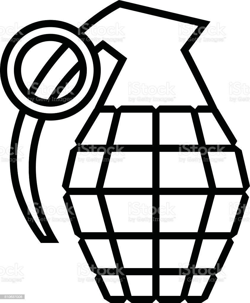hand grenade vector illustration stock vector art more images of rh istockphoto com  hand grenade vector free