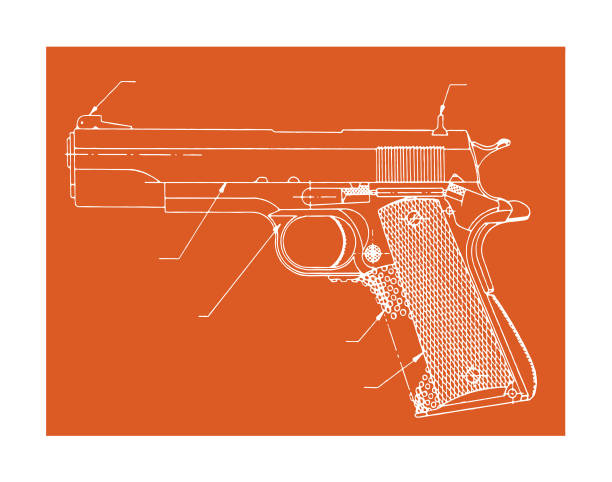 Hand Gun Hand Gun gun stock illustrations