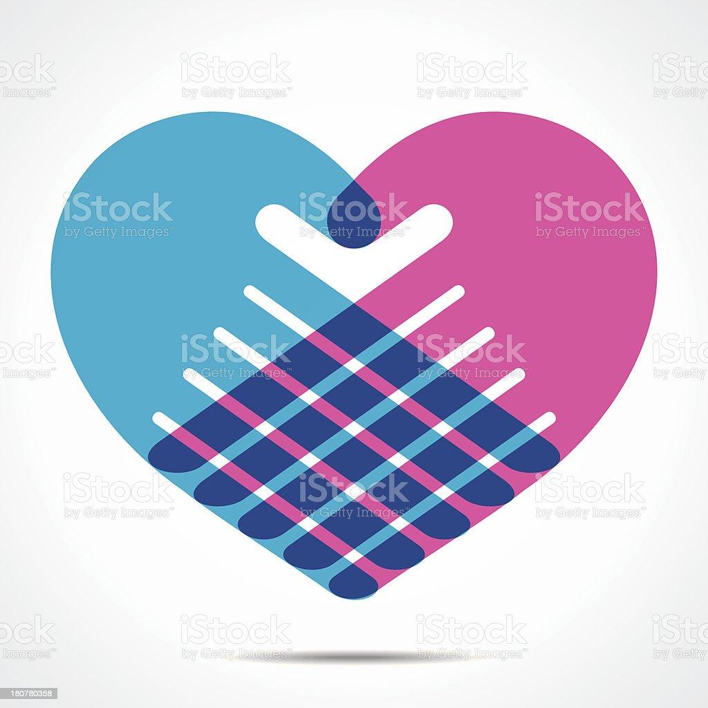 hand heart symbol royalty-free stock vector art