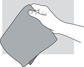 istock Hand holding a cloth / handkerchief 472279193