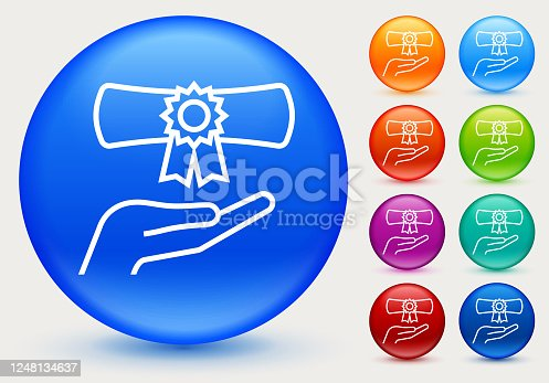 istock Hand Holding a Diploma Icon 1248134637