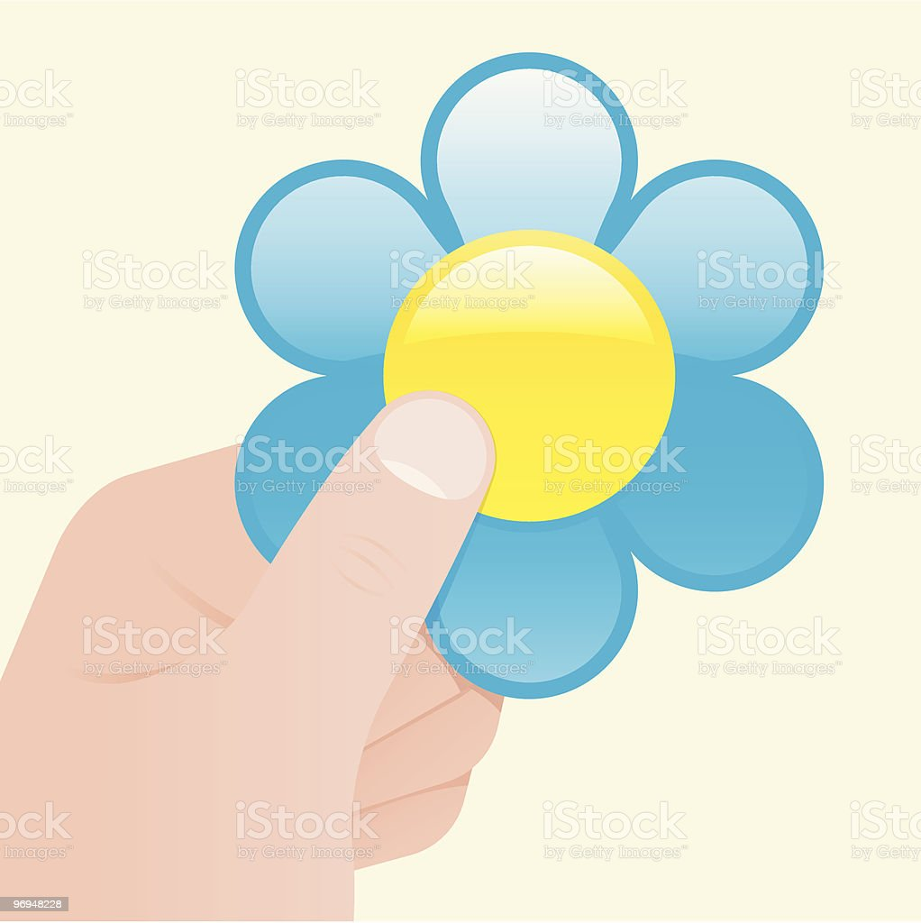 Hand holding a flower royalty-free hand holding a flower stock vector art & more images of art and craft