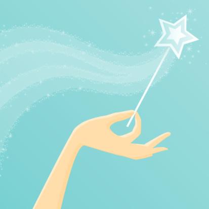 Hand Holding a Magic Wand