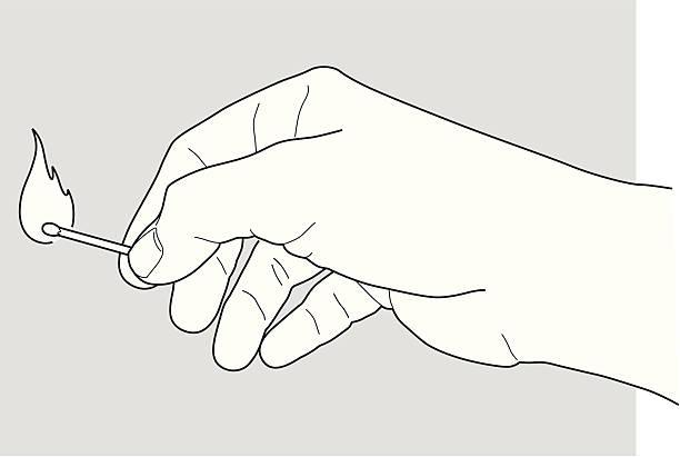 bildbanksillustrationer, clip art samt tecknat material och ikoner med hand holding a match - hand tänder ett ljus