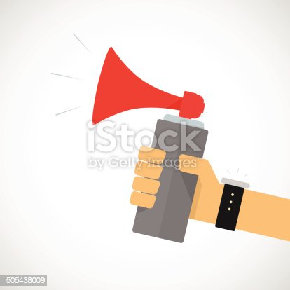 istock Hand Holding Air horn 505438009
