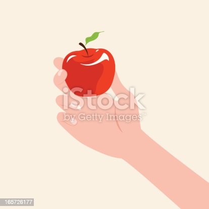 istock Hand Holding An Apple 165726177