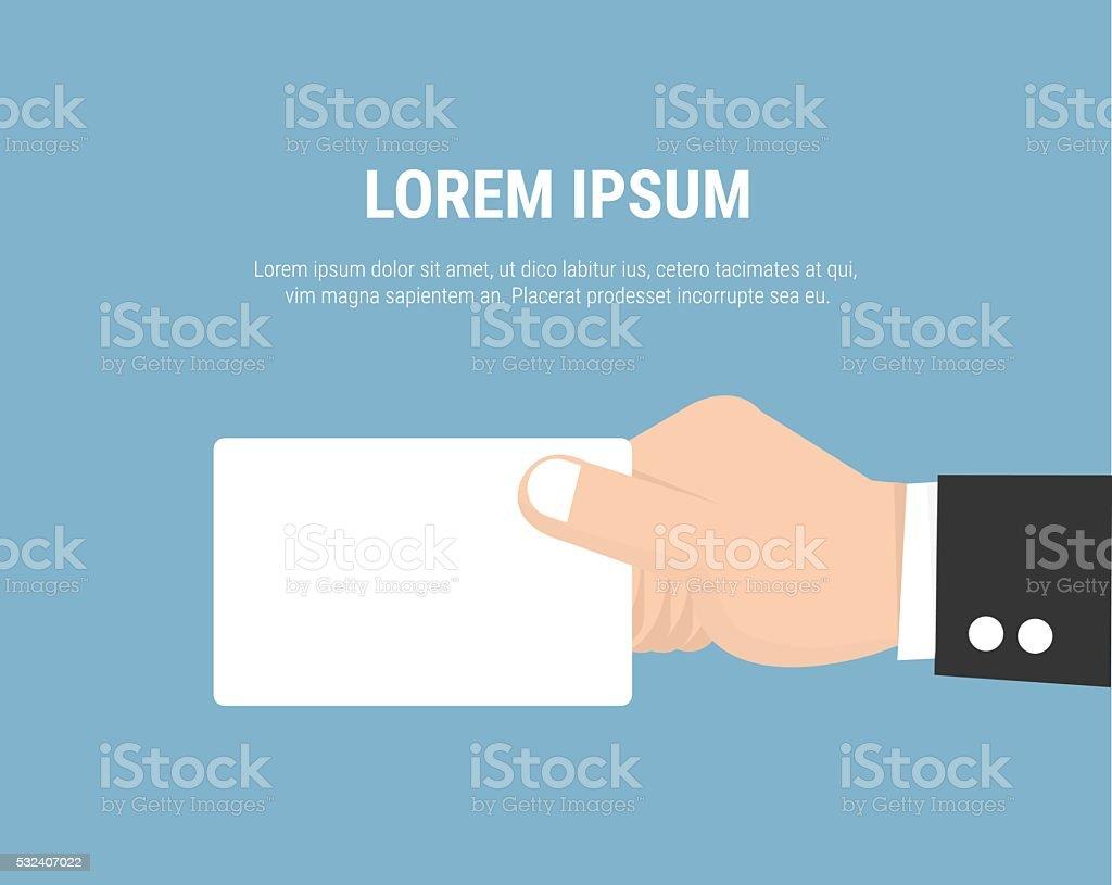 Main Tenant La Carte De Visite Icne Plate Moderne Style VECTEUR