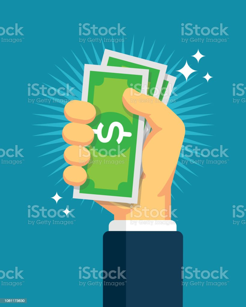 Hand Holding Cash Hand Holding Cash Currency stock vector