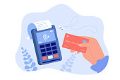 istock Hand holding debit or credit card for payment 1302890997
