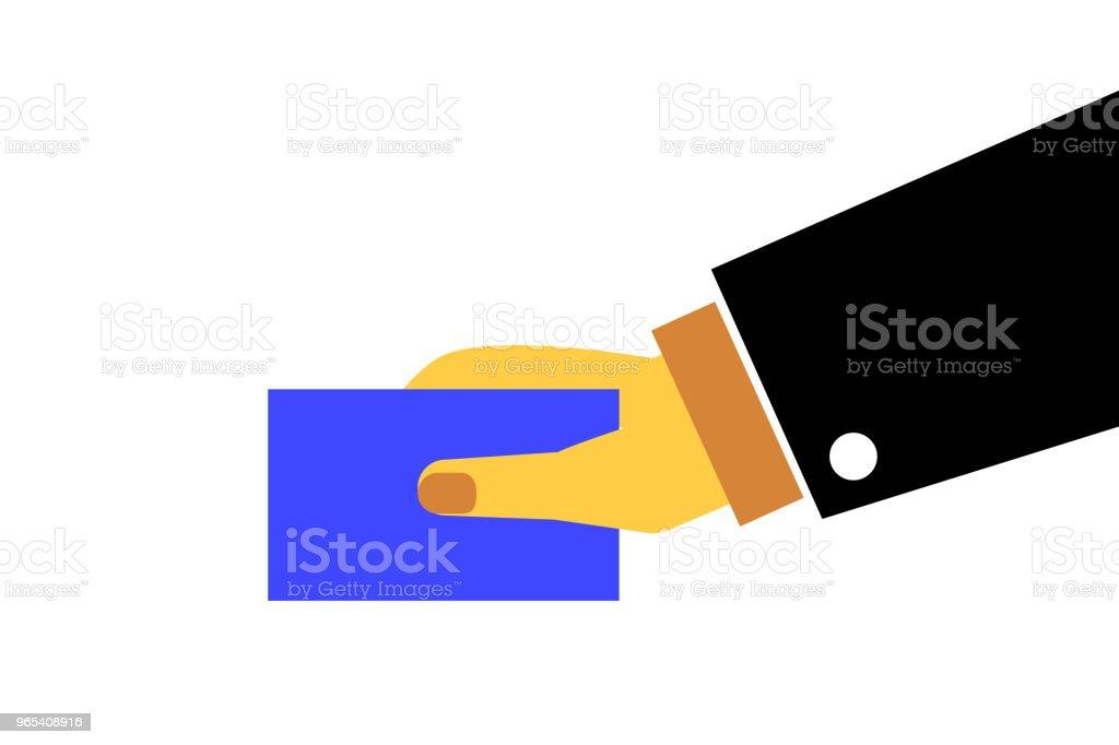 Hand - Holding Debit or Credit Card hand holding debit or credit card - stockowe grafiki wektorowe i więcej obrazów bez ludzi royalty-free