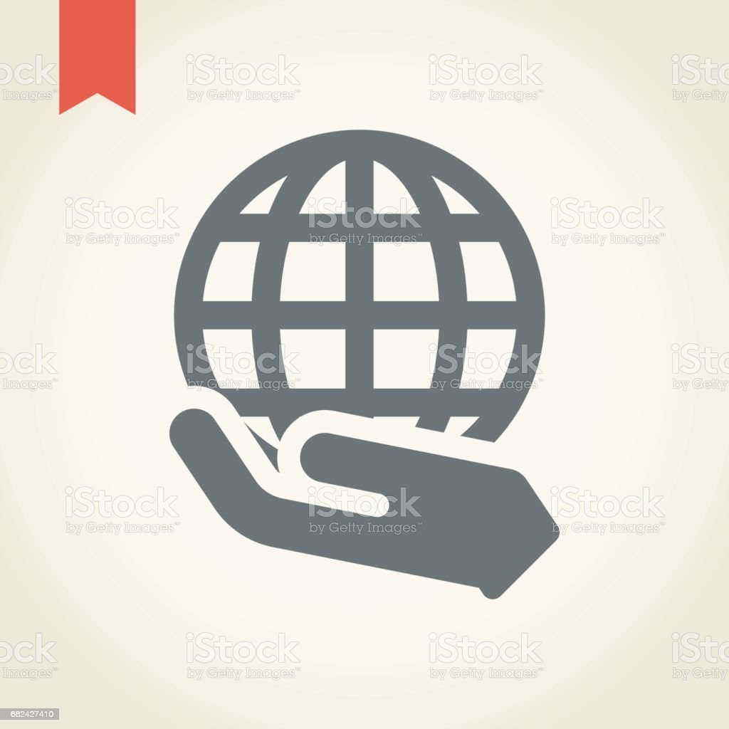 Hand Holding Earth Globe Icon royalty-free hand holding earth globe icon stock vector art & more images of accidents and disasters
