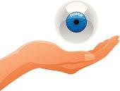 Hand Holding Eye