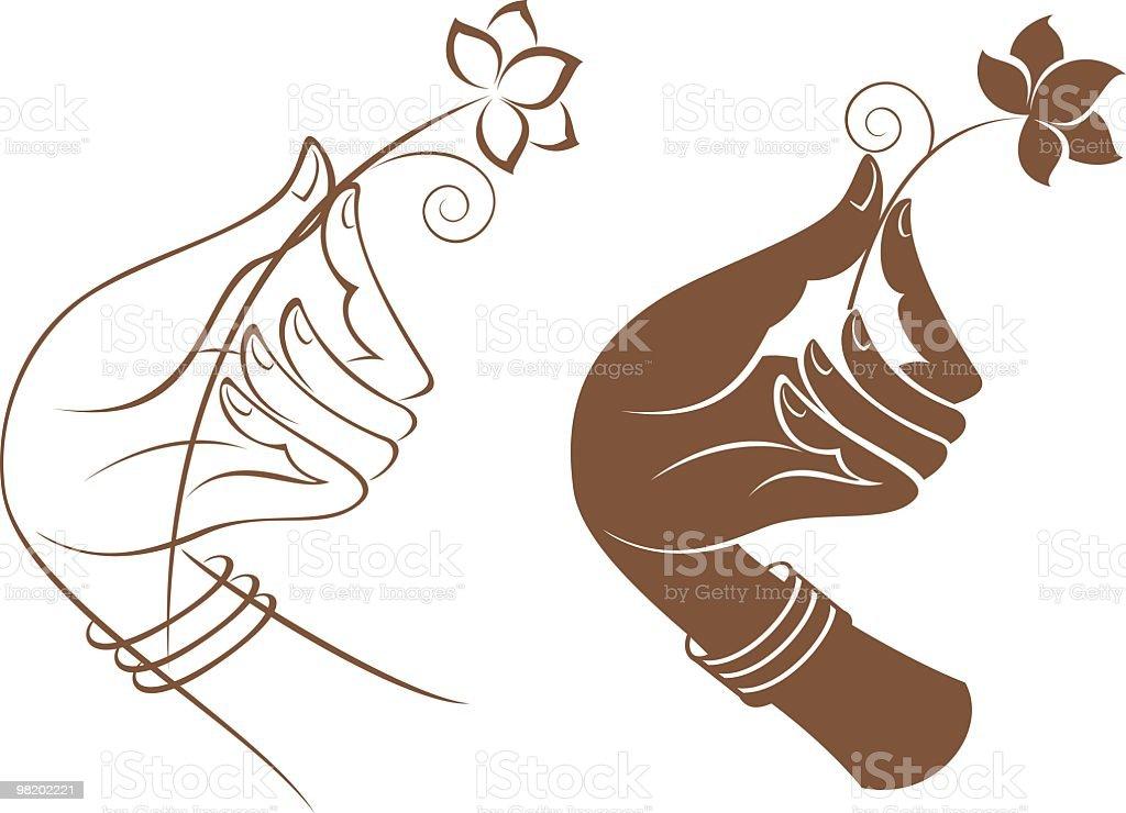 손으로 쥠 아이리스입니다 royalty-free 손으로 쥠 아이리스입니다 꽃 한송이에 대한 스톡 벡터 아트 및 기타 이미지