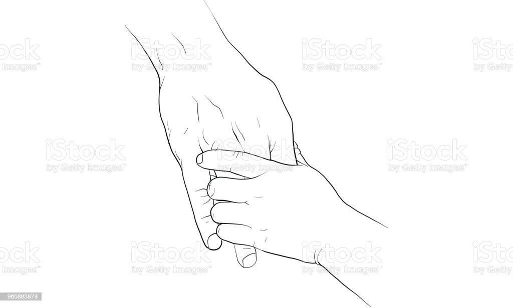hand met hand samen vector - Royalty-free Bord - Bericht vectorkunst