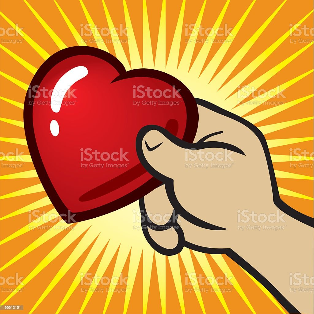 Hand Holding Heart - Royalty-free Close-up stock vector